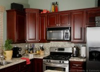 Small Kitchen with Cherry Cabinets | Dream Kitchen ...