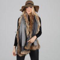 PoppyLondon reversible cashmere fur trimmed scarf. We ...