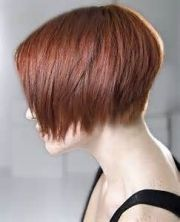 short layered wedge hairstyle
