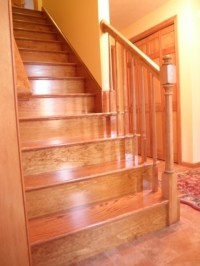 Red Oak Stairs. Hopefully there will be hardwood under the ...