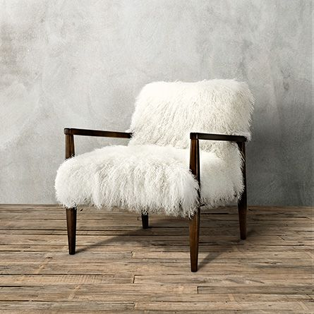 leather side chair rental columbus ohio tansy in tibetan ivory sheepskin | arhaus furniture my fetish pinterest