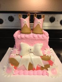 Cowgirl boots baby shower cake | Cakes, Cup Cakes and ...