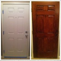 Gel Stain did wonders for our plain white door. General ...