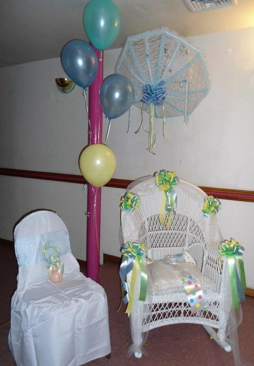Baby Shower decor wicker chairdaddy to be chair and