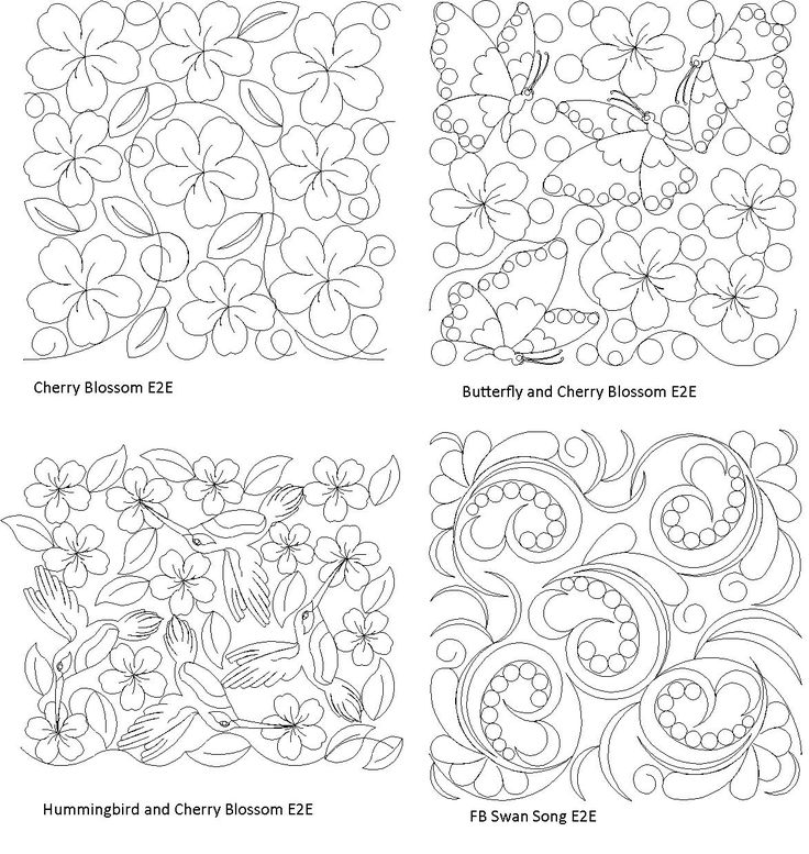 17 Best images about Free-Motion Quilting Designs on
