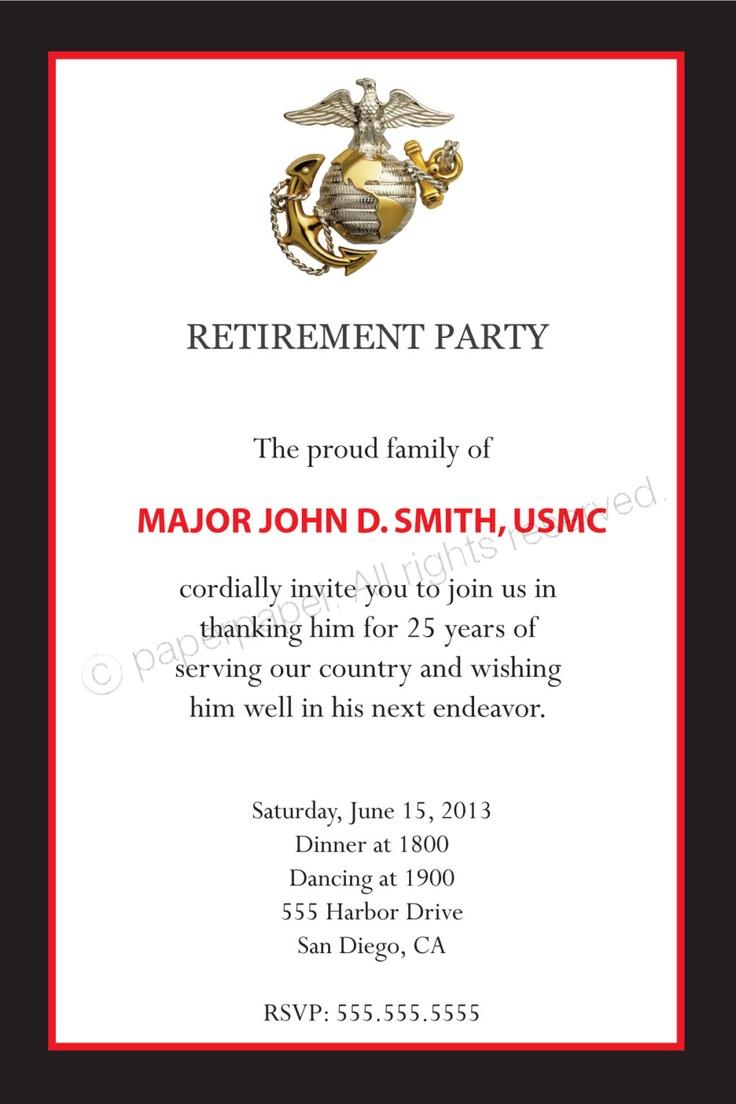 retirement invitation wording ideas