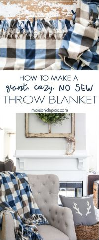 1000+ ideas about No Sew Blankets on Pinterest | Fleece ...
