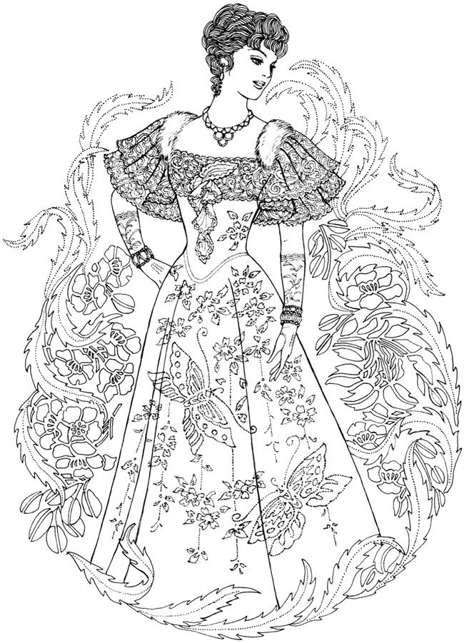 Creative Haven Art Nouveau Fashions Coloring Book Welcome