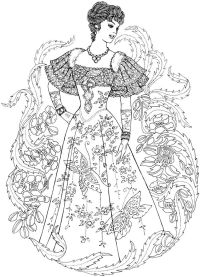 Creative Haven Art Nouveau Fashions Coloring Book Welcome ...