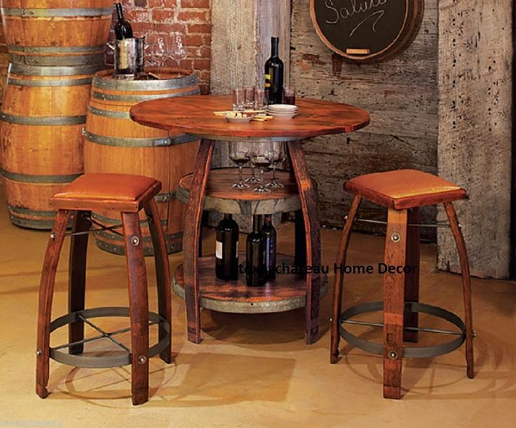 whiskey barrel pub table and chairs hanging bubble chair under 100 17 best images about tables on pinterest | open wine, barrels
