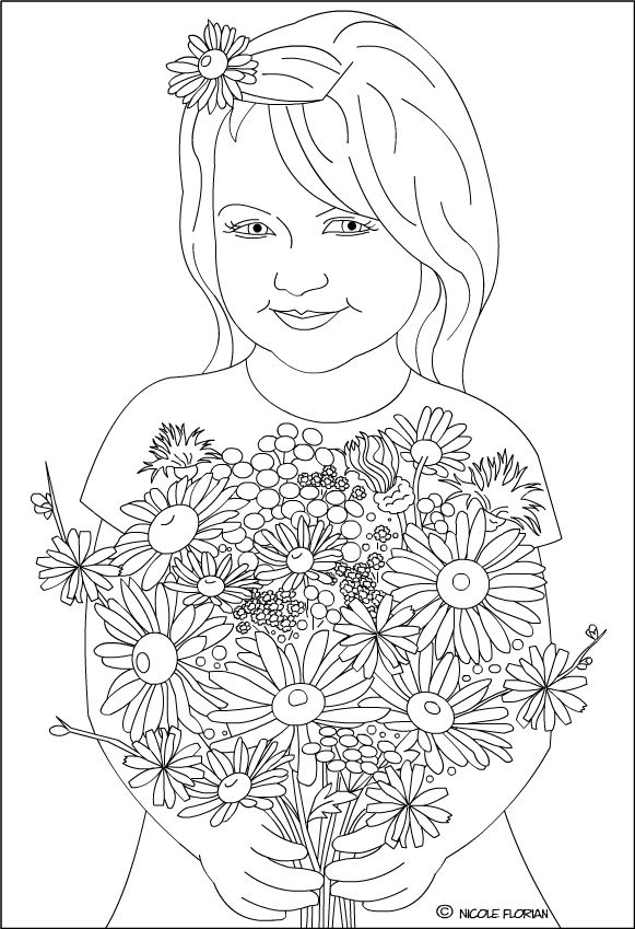 1000+ images about Floral Coloring Pages for Adults on