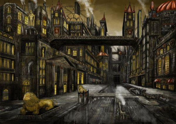 steampunk landscape - google