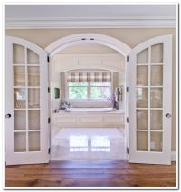 Furniture,Old Fashionated Arched French Doors Interior ...