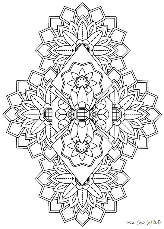 363 best images about Coloring pages, mandelas