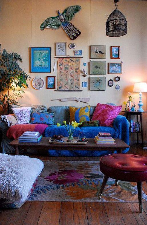 boho living room: