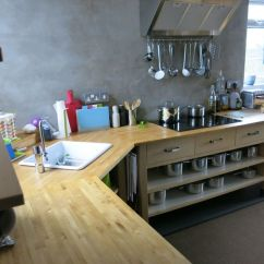 Ikea Kitchens Cabinets Washable Kitchen Rugs Sink Cut Into An Old Varde Corner Unit + Hob ...