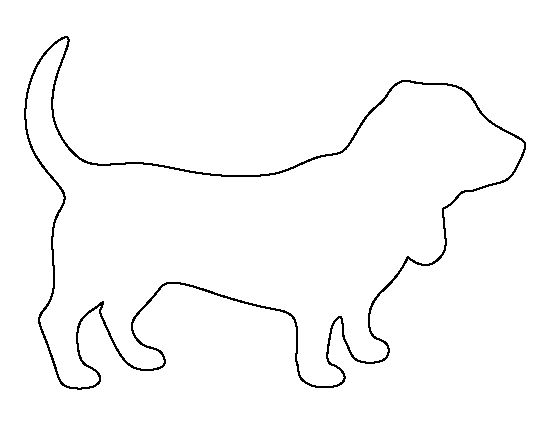 Basset Hound pattern. Use the printable outline for crafts