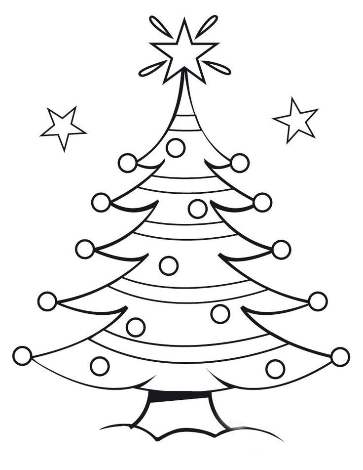 25+ best ideas about Christmas tree coloring page on