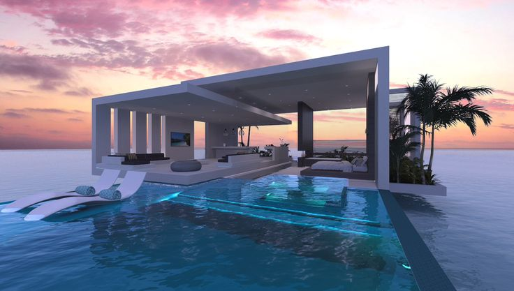 pool floating lounge chairs green resin adirondack resort water villas in maldives spa open bathroom living over with glass floors ...