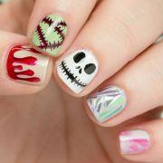 happy halloween skittlette nail
