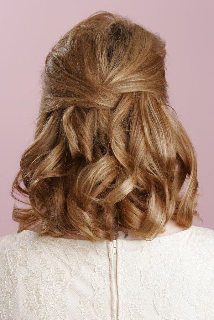 25 Best Ideas About Half Updo Hairstyles On Pinterest Wedding