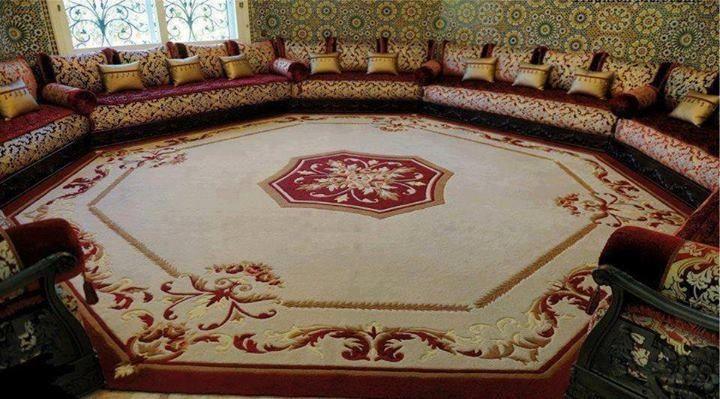 Salon Marocain Mauve Et Gris