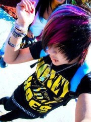 rainbow hair hot boys
