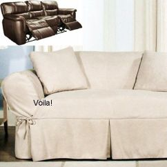 Slipcover Recliner Sofa Leather Types Reclining Ivory Heavy Suede Adapted For ...