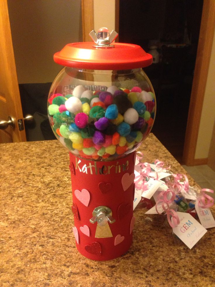 Gumball Machine Valentine Box Be Mine