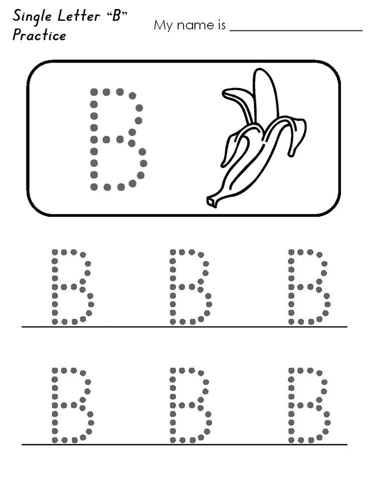 Trace Letter B Worksheets