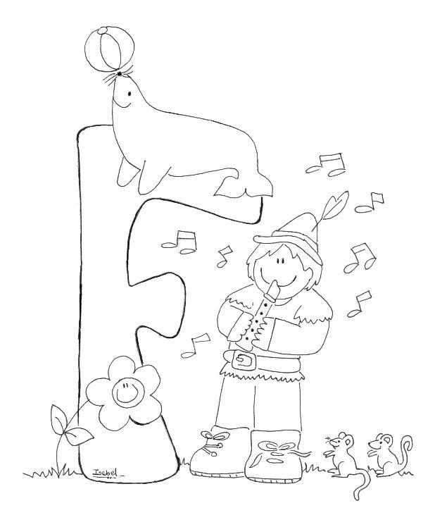 Letras del abecedario infantiles para imprimir y colorear