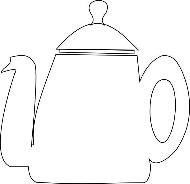 Free printable tea templates + digital teapot stamp