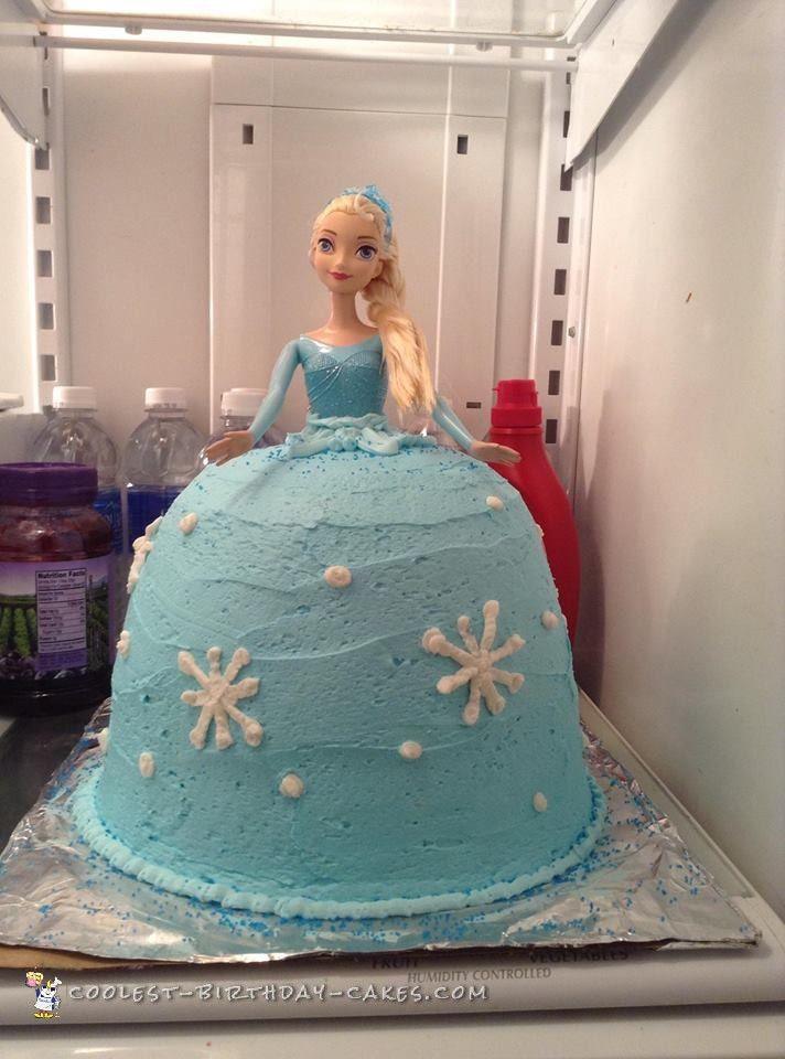 17 Best ideas about Frozen Doll Cake on Pinterest  Elsa