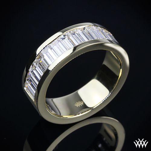 Men Deserve Diamonds Too Unique Diamond Wedding Band