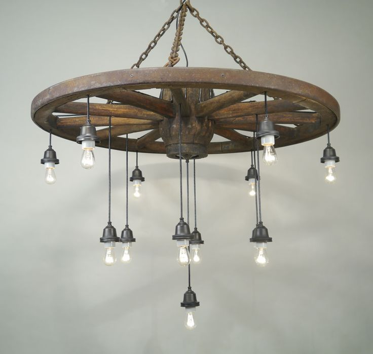 25 Best Ideas about Wagon Wheel Chandelier on Pinterest