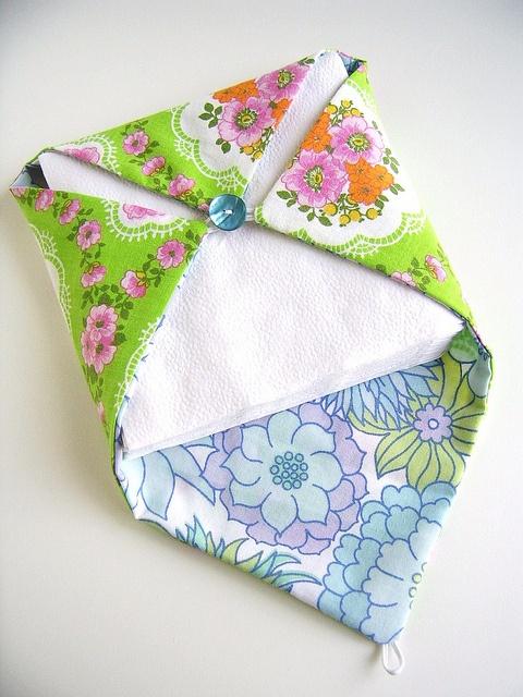 Fabric Napkin Holder Via Flickr Sewsewsew