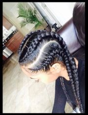 thick cornrows braids
