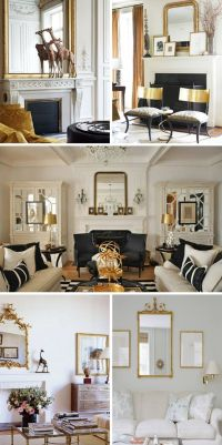 Black and White living rooms with a hint of gold.