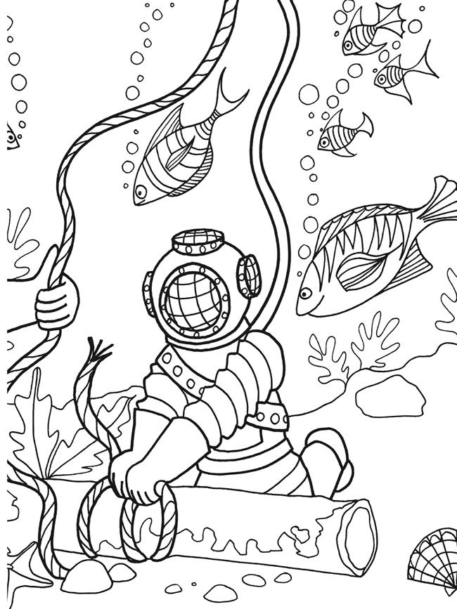 97 best Under the Sea Coloring or Painting Pages images on