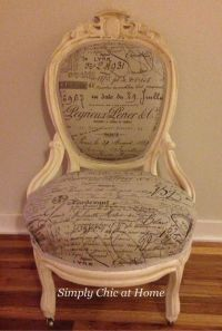 Antique Victorian Chair Makeover French Chic | Simply Chic ...
