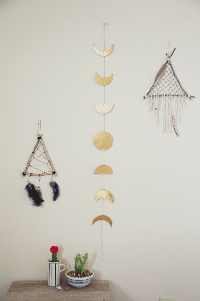 Phases Of The Moon Clay Wall Hanging Gt Crescent Moon