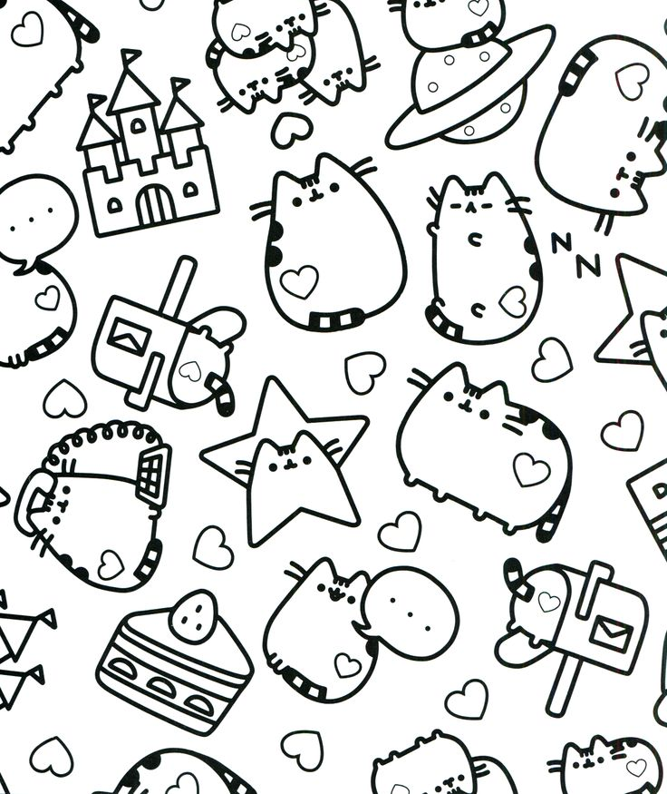 Pusheen Cat Printable Coloring Pages Sketch Coloring Page