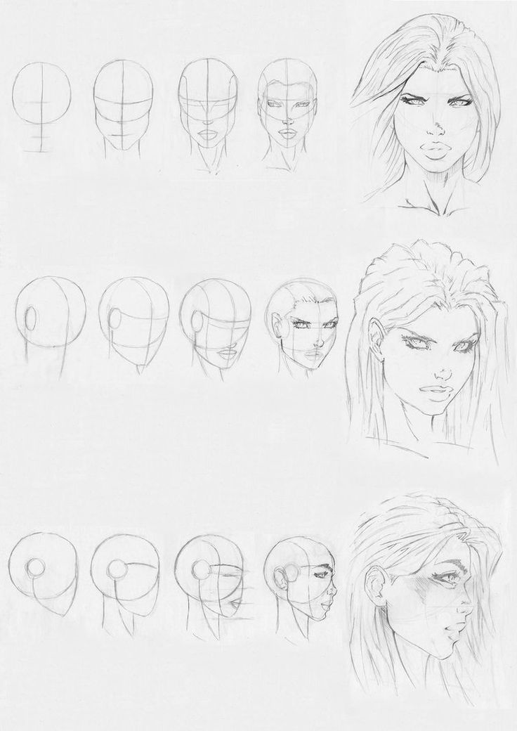 25+ best ideas about Female face drawing on Pinterest