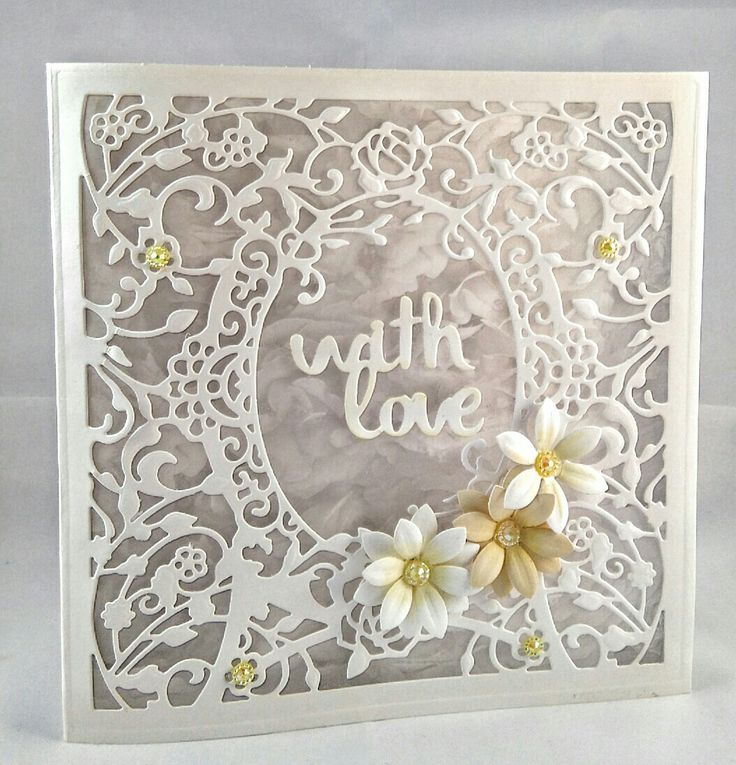 Handmade Card Using Die'sire Create A Card Die Flowers