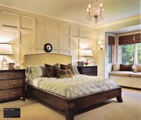 wall trim Master bedroom / lake house / casual elegance