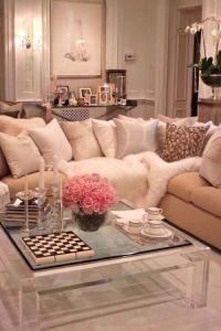 Feminine girly living room | Living Room Ideas