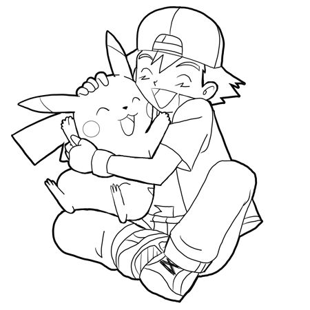 How to Draw Ash Hugging Pikachu with Easy Steps Drawing