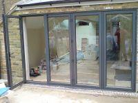 Tri Fold Patio Doors. Reliabilt In Lite Glass Primer White ...