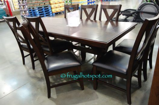 square pedestal kitchen table backsplash cost costco sale: bayside furnishings 9-pc dining set $699.99 ...