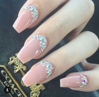 25+ best ideas about Diamond nails on Pinterest